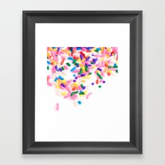 Ice Cream & Sprinkles Framed Art Print
