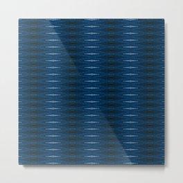 Barque Bleue Metal Print