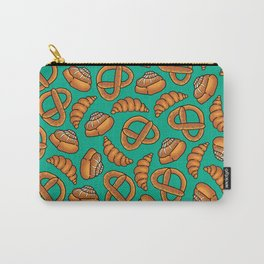Freshly Baked Goods on Teal Carry-All Pouch