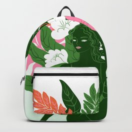 half lord of the fishes pose Backpack