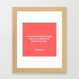 seneca quote Framed Art Print