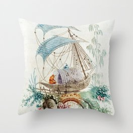 Chinoiserie Embroidery Throw Pillow