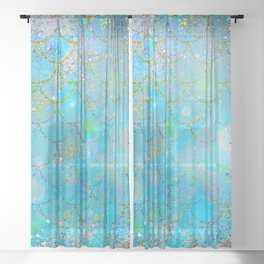 Mermaid Shimmer Sheer Curtain