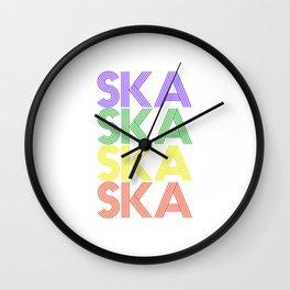 Ska  TShirt Retro Music Shirt Vintage Beats Gift Idea Wall Clock