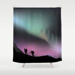 Aurora Mountains Shower Curtain