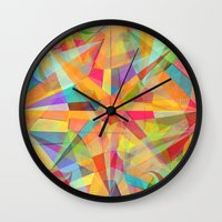 star Wall Clocks featuring Star by Danny Ivan