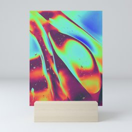 psychedelic trippy poster Mini Art Print