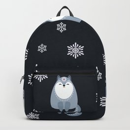 Winter Fox And Snowflakes Backpack