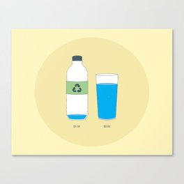 Bottled Water Canvas Print