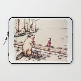 The Girl & The Beaver (or, Is It Alright if I Take Notes?) Laptop Sleeve