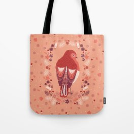 Petite Robin Red Breast Tote Bag
