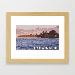 Lahaina, Hawaii - Photoart Framed Art Print