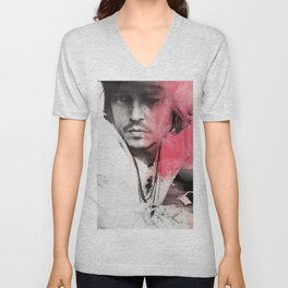 Johnny Depp Artwork Unisex V-Neck