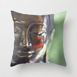 Buddha with a blush Throw Pillow