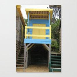 Blue Bathing Box Canvas Print