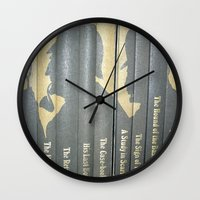 conan Wall Clocks featuring Sherlock Holmes by Sir Arthur Conan Doyle by Madreflections