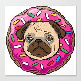 Pug Donut Canvas Print
