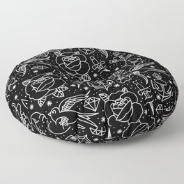 Black flash Floor Pillow