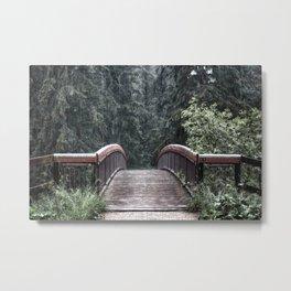 Rain Across the Bridge Metal Print