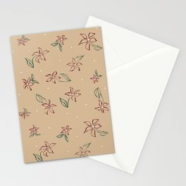 Sketched Lily Print in Neutral Stationery Cards
