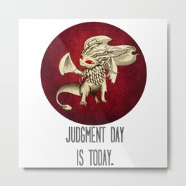 Judgment Dragon inspired card Metal Print