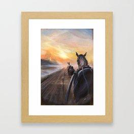 Matin à Grosbois Framed Art Print