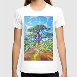 Magical Tree Texture Painting T-shirt