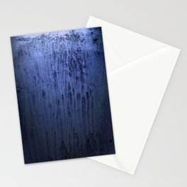 Old blue window at night Stationery Cards