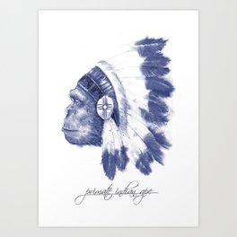 Indian ape Art Print