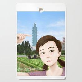 Fern Selfie with Taipei 101 Cutting Board