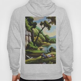 Classical Masterpiece 'Cave Spring' by Thomas Hart Benton Hoody