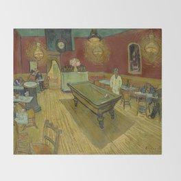 """Vincent van Gogh """"Le café de nuit (The Night Café)"""" Throw Blanket"""