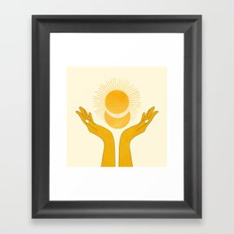 Holding the Light Framed Art Print