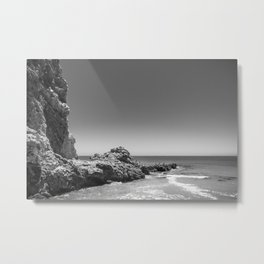 Birds sit on rocks along Rancho Palos Verdes coastline Metal Print