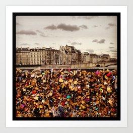 Love Locks Paris Art Print