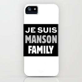 Je Suis - Manson Family iPhone Case