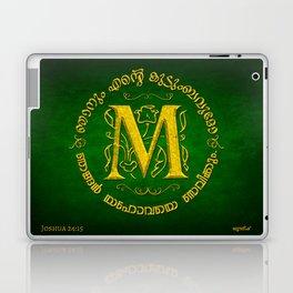 Joshua 24:15 - (Gold on Green) Monogram M Laptop & iPad Skin