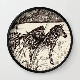 ZEBRA: BROWN Wall Clock