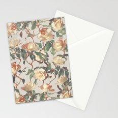 Soft Vintage Rose Pattern Stationery Cards