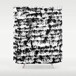 Black Pattern#2 Shower Curtain