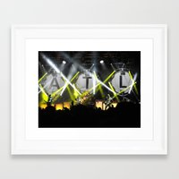 all time low Framed Art Prints featuring All Time Low Live by andiechrist