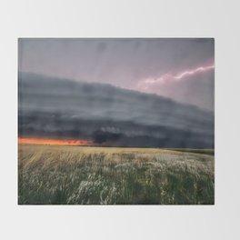 Steamroller - Storm Spans the Kansas Horizon Throw Blanket