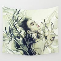 stag Wall Tapestries featuring Stag by Anna Dittmann