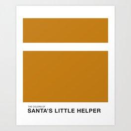 The Colors of - Santa's little helper- Simpsons Art Print