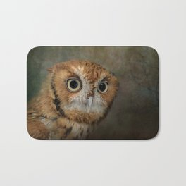 Portrait of An Eastern Screech Owl Bath Mat