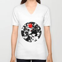valentine V-neck T-shirts featuring Valentine by Priscilla Moore