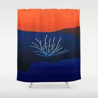 desert Shower Curtains featuring Desert by lillianhibiscus
