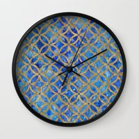 new year Wall Clocks featuring New year by Edling art