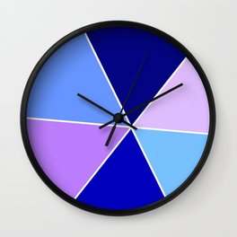 Just two colors 22 blue Wall Clock