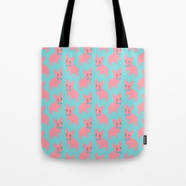 Pink Frenchie - What's Up? Tote Bag